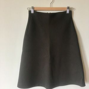 New Zara brown a-line skirt in polyester-cotton